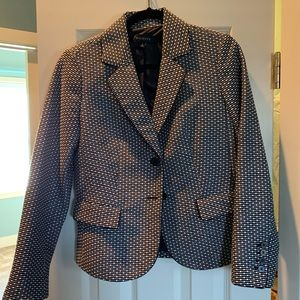 Talbots Black and White Blazer